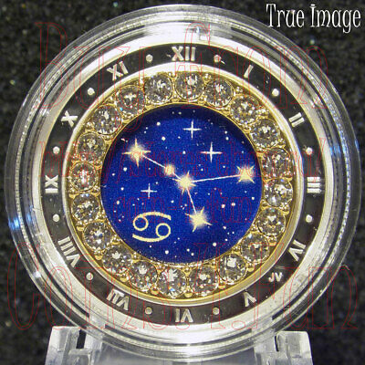2019 Cancer Zodiac Series #7 $5 Pure Silver Coin with Swarovski Crystal Canada
