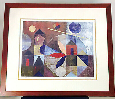 """Abstract Print Signed Limited Edition Lithograph """"Plaza Blanca II"""" by Iren Schio"""