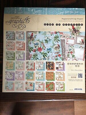 Graphic 45 Time To Flourish Collection 12x12 Retired