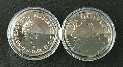 2018 England  50 Pence Mrs.Tittlemouse BUNC with Coins Capsule