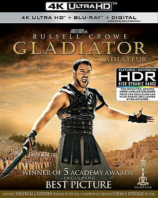 Gladiator - 4K UHD Ultra HD + Blu-ray + Digital (Incl. Slipcover) Brand New