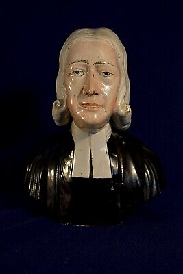 Antique Early Staffordshire Pearlware John Wesley Bust by Enoch Wood