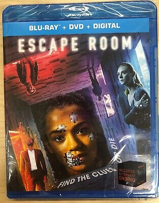 Escape Room 2019 (Blu-ray + DVD + Digital) BRAND NEW SEALED