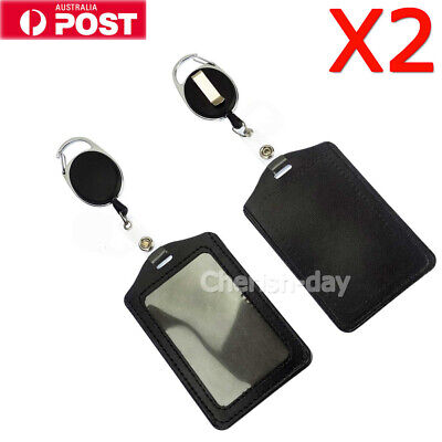 2PCS Retractable Lanyard ID, Card Holder, Business Badges, Security Pass OZ
