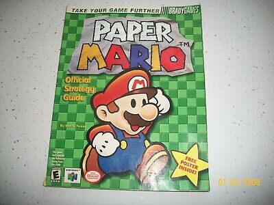 Paper Mario Strategy Guide Nintendo N64