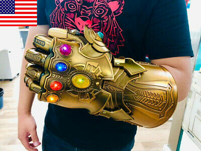 US HCMY Thanos Infinity Gauntlet Full Metal 1:1 Wearable LED Statue Cosplay Prop