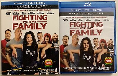 Fighting With My Family Blu Ray Dvd 2 Disc Set + Slipcover Sleeve Free Shipping