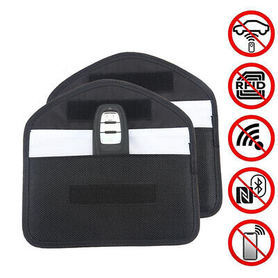 2* Car Key Wireless Signal Blocker Cases Fob Keyless RFID Blocking Bags Useful