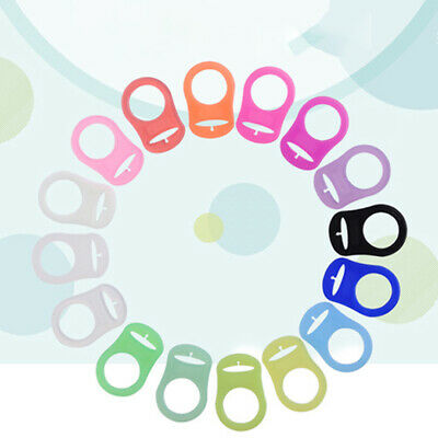 5PCS Button Baby Dummy Pacifier Holder Clip Adapter For MAM Rings Silicone New