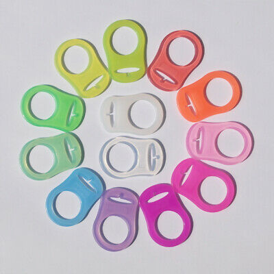 5Pcs Baby Teeth Silicone Button Dummy Pacifier Holder Clip Adapter For MAM Rings