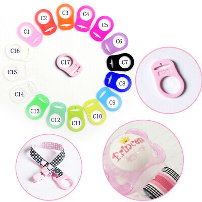 5×Lot Silicone Button Baby Dummy Pacifier Holder Clip Adapter For Baby MAM Rings