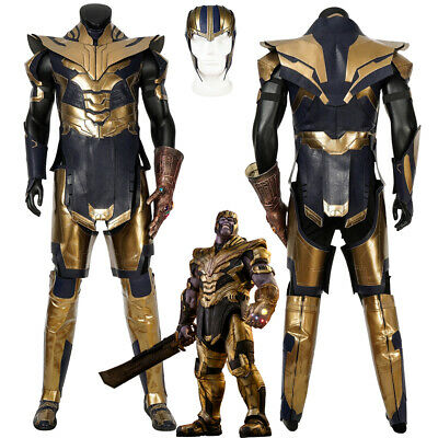 Avengers Endgame Thanos Cosplay Costume Men's Full Suit Outfit