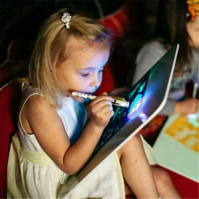 UK Stock Draw With Lights Fun Developing Toy Drawing Board Educational Painting