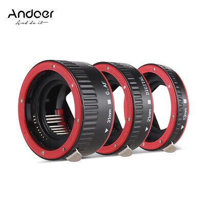 Andoer Auto Focus AF Macro Extension Tube 13mm 21mm 31mm for Canon EOS 60D W4Z2
