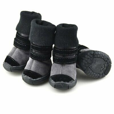 4pcs Pet Dog Shoes Winter Warm Boots Booties for Snow Rain Reflective Anti-slip
