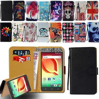 For Various Alcatel SmartPhones Leather Smart Stand Wallet Cover Case