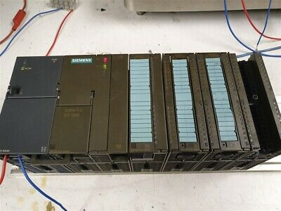 Complete Siemens Simatic S7-300 plc & Power Supply with I/O Cards and Rack