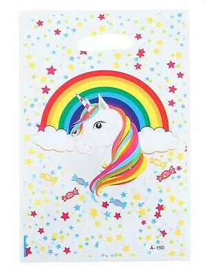 Children's Party Bags Unicorn x 10 Loot Kids Toy Birthday Gift Favour Rainbow