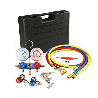 Auto Manifold Gauge Set A/C R134a Air Conditioner Refrigeration R22 Refrigerants