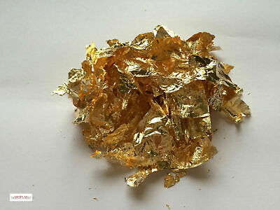 10 grams of gold leaf flakes craft, gold & copper leaf flakes also in shop