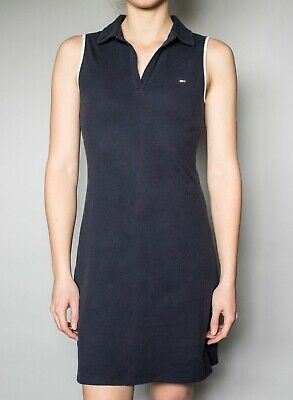 a325924da Navy Blue Tommy Hilfiger Polo Shift Dress Size Small White Piping Nautical  Golf