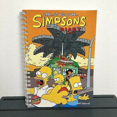 The Simpsons Vintage 1997 Collectable Diary Matt Groening Comics Bongo Group