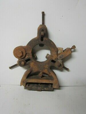 Old Rusty Industrial Design Gizmo Steampunk Cast Steel Lathe Centering Device