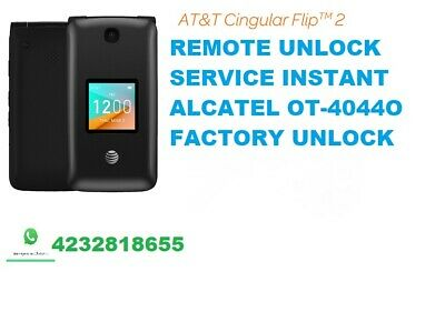 Alcatel Remote Unlock Service for AT&T Cingular Go Flip phone ot-4044O VIA USB