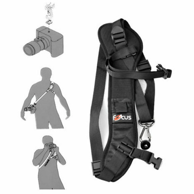 Focus F-1 Quick Rapid Shoulder Sling Belt Neck Strap For DSLR SLR Camera Black