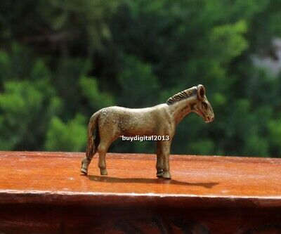 4 cm Pure Bronze Copper Chinese Zodiac Animal Equine Horse Lucky Amulet Statue