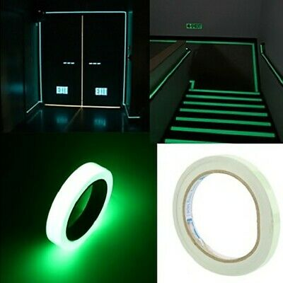 Glow In The Dark Self-adhesive Luminous Tape Safety Warning Signs Sticker Tapes