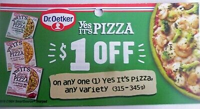 Save On Dr. Oetker's Yes Its Pizza Products