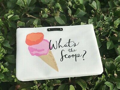 NWT Kate Spade FLAVOR OF THE MONTH WHAT'S THE SCOOP GIA POUCH