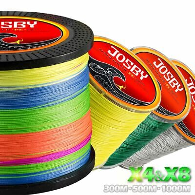 PE Braided Wire 300M 500M 1000M 4 8 Strands Fishing Line Tackle 10 80 LB