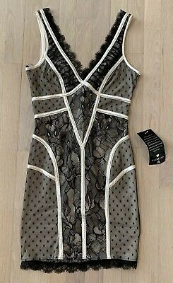 BEBE Black /Nude Lace Dress Size XS NWT $129 Sold Out seen on Kim Kardashian