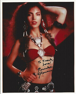BRINKE STEVENS HAND SIGNED / AUTOGRAPHED 8x10 COLOR GLOSSY PHOTO W/ INSCRIPTION