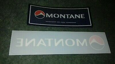 Collectable Super Rare Montane Expedition Sew/Iron On Badge + Window Sticker