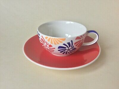Whittard of Chelsea Multi-Coloured Cup & Saucer Handpainted