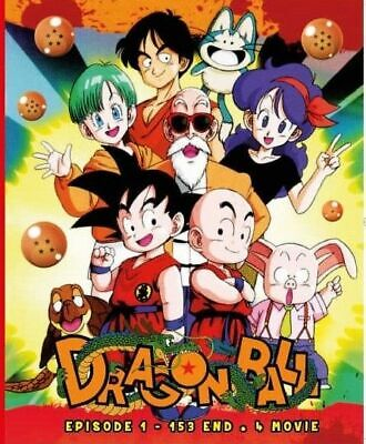 DVD Anime Dragon Ball Episode 1-153 End + 4 Movies English Dubbed