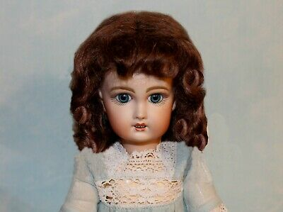 Dee Light Brown mohair wig for French or German antique doll size 8 - 9