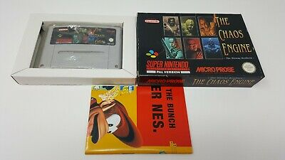 THE CHAOS ENGINE The Bitmap Brother SNES Complete Rare