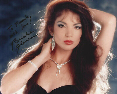 BRINKE STEVENS HAND SIGNED / AUTOGRAPHED 8x10 COLOR GLOSSY HEAD SHOT PHOTO