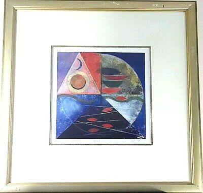 """Abstract Print Signed Numbered Limited Edition Lithograph """"Autumn"""" by Iren Schio"""