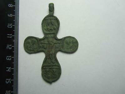 Ancient cross  Byzantine - Kievan Rus - medieval  100% original Ancient Bronze