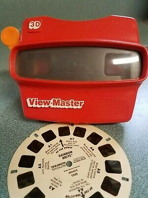 ❤️ Original View Master 3D Red Classic Viewmaster w/ Rainbow Brite Reel