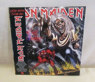 Iron Maiden The Number Of The Beast 2012 Lp Picture Disc Mint Sealed Very Rare