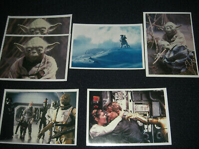 The Empire Strikes Back Topps Trading Photo Card Checklists Lot of 6