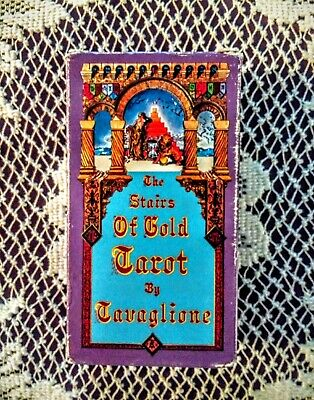 The Stairs of Gold Tavaglione Tarot Deck Factory-Sealed 1979 1st Edition RARE