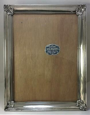 Vintage Peruvian 925 Sterling Silver Fronted Wood Photo Frame (27cm x 21cm)