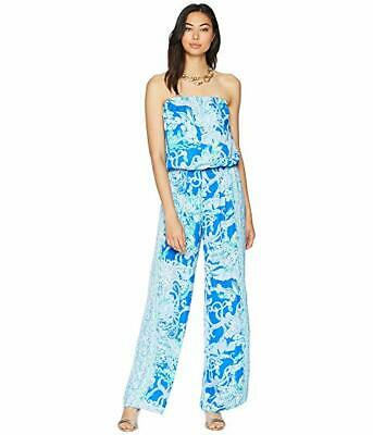 4c01141e68e20a NWT Lilly Pulitzer Pim Jumpsuit Blue Current Sea Sirens Engineered Size XXS  $178